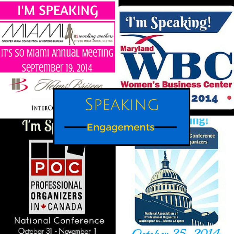 Our Speaking Engagements
