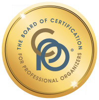 Certified Professional Organizer® issued by BCPO to Kim  Oser
