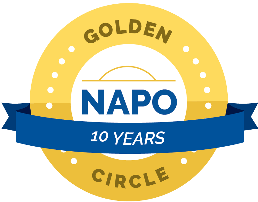NAPO Golden Circle 10 year badge Kim Oser