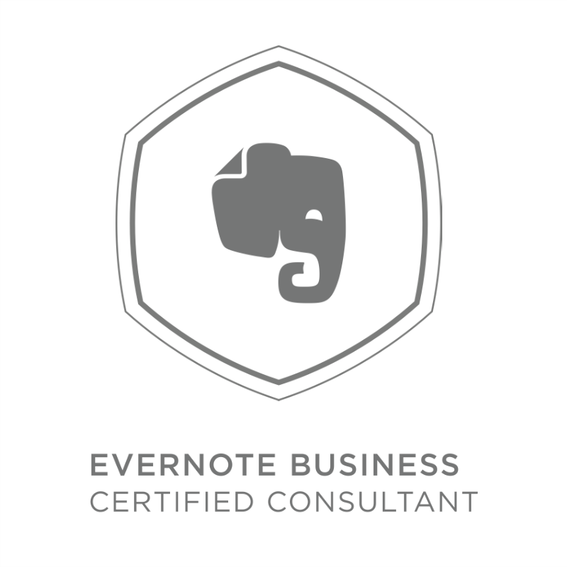 I'm an Evernote Business Certified Consultant