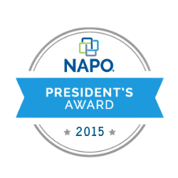NAPO 2015 President's Award badge