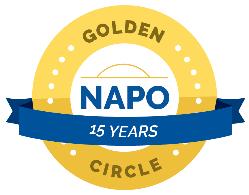 NAPO Golden Circle 15 year badge Kim Oser